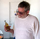 Bukowski miscellany - Michael Montfort inspects a Bukowski poem floating in a bottle of beer